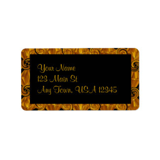 Gold Scroll Address Label