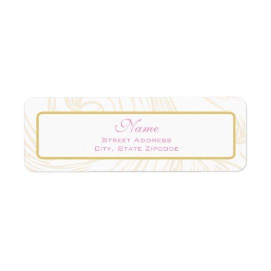 Gold Scroll Christening Address Label
