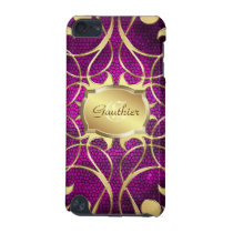 Gold Scroll Heart Pink Stained Glass Ipod  Case iPod Touch 5G Case