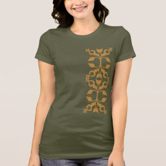 Gold Scroll Left Side T-Shirt