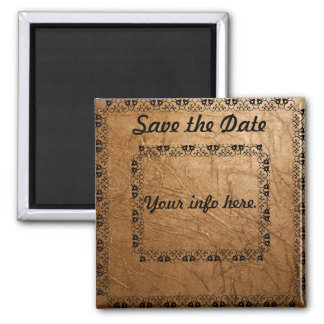 Gold Scroll Save the date. Magnet