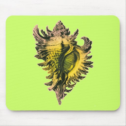 Gold Sea Shell Mouse Pad