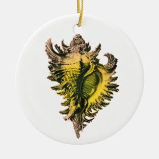 Gold Sea Shell Ornament