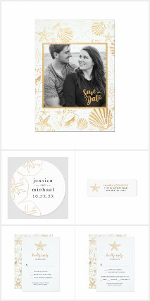 Gold Sea Shell Wedding Collection