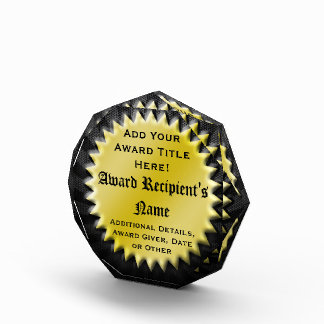 Gold Seal Custom Personalized Acrylic Award