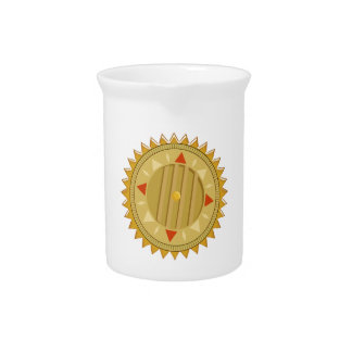 Gold SEAL : Sun CHAKRA Compass Drink Pitchers
