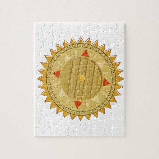 Gold SEAL : Sun CHAKRA Compass Puzzle