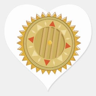 Gold SEAL : Sun CHAKRA Compass Heart Sticker