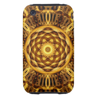 Gold Seam Mandala iPhone 3 Tough Case