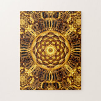 Gold Seam Mandala Jigsaw Puzzle