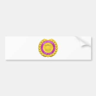 Gold Security Winner Laurel Wreath Medal Bumper Sticker