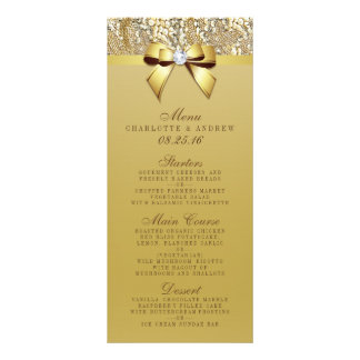 Gold Sequin Bow Wedding Collection Menu