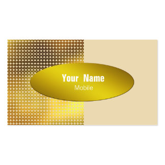 Gold Sequin Business Cards