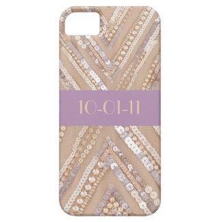 Gold Sequin Chevron Iphone Cover iPhone 5 Case