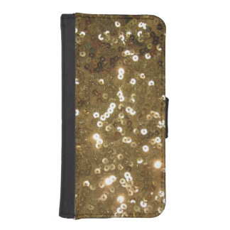 Gold Sequin iPhone SE/5/5s Wallet Case