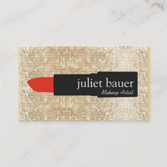 Gold sequin makeup artist lipstick logo beauty business card gold sequin makeup artist lipstick logo beauty business card reheart Gallery