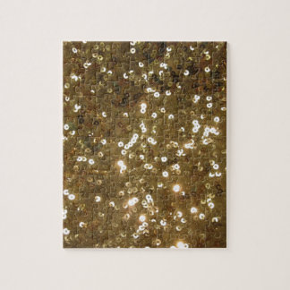 Gold Sequin Pattern Puzzle