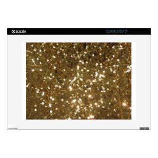 "Gold Sequin Pattern Skins For 15"" Laptops"
