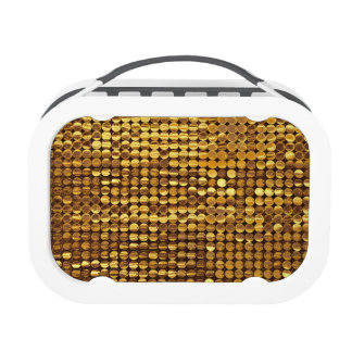 Gold Sequin Sparkle Yubo Lunchbox