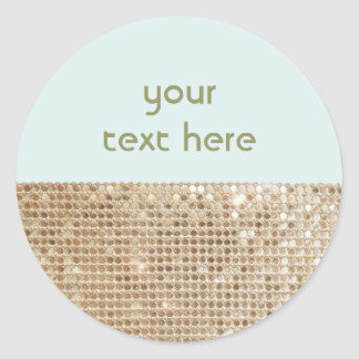 Gold Sequined Customizable Sticker