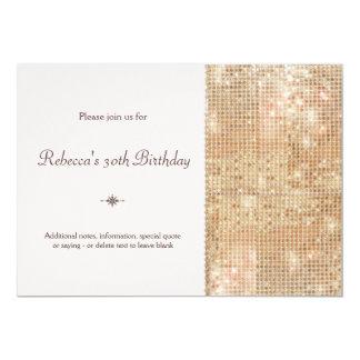 Gold Sequins 30th Birthday Blush Pink Card