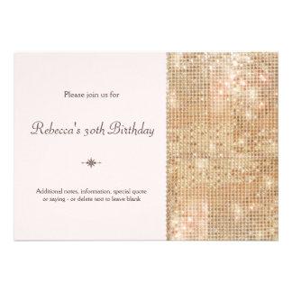 Gold Sequins 30th Birthday Blush Pink Invitations