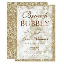 Gold Sequins Brunch & Bubbly Bridal Shower Card