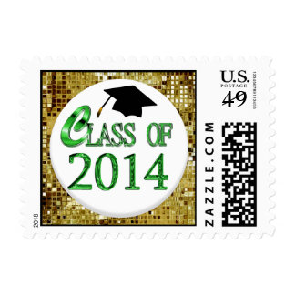 Gold Sequins Class Of 2014 Postage Stamp