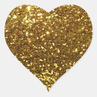 Gold Sequins Glitz Heart Shape Envelope Seals Heart Sticker