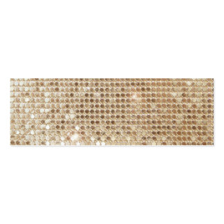 Gold Sequins Mini Profile Card Double-Sided Mini Business Cards (Pack Of 20)