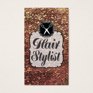 GOLD Sequins Sparkle Bling Hair Stylist Business Card