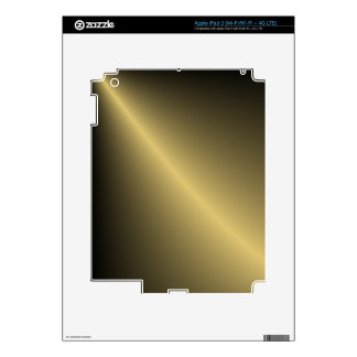 Gold Shaded iPad 3 Decal