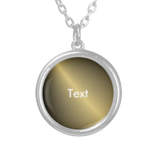 Gold Shaded Round Pendant Necklace