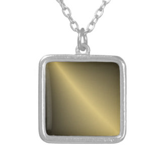 Gold Shaded Square Pendant Necklace