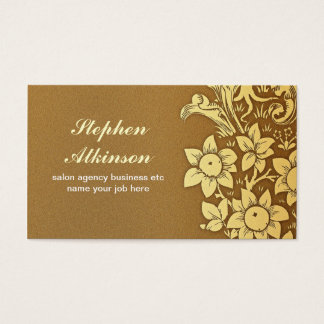 Gold Shades Sunflowers Elegant Floral Vintage Business Card