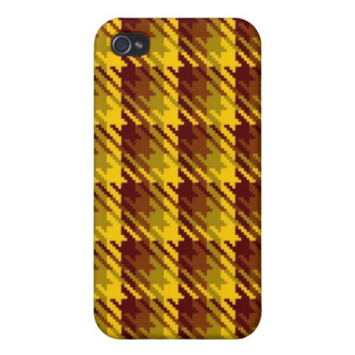 Gold Shadow Check iPhone 4/4S Case