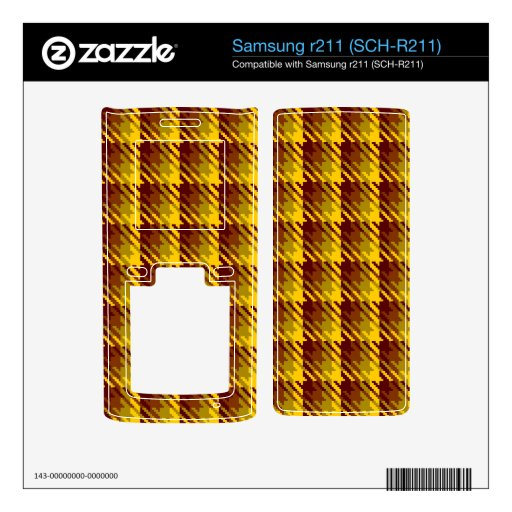 Gold Shadow Check Skins For Samsung R211