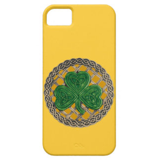Gold Shamrock And Celtic Knots iPhone 5 Case