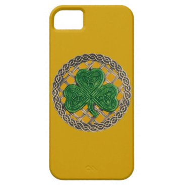 Gold Shamrock And Celtic Knots iPhone 5G Case