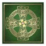 Gold Shamrock Celtic St Patrick's Day Wedding Card