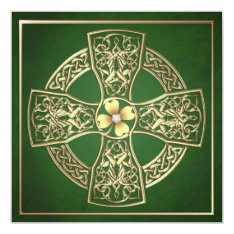 Gold Shamrock Celtic St Patrick's Day Wedding Card at Zazzle
