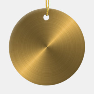 Gold Sheen Christmas Personalized Ornament