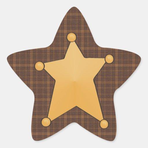 Golden Star Sheriff's Badge Sticker | Zazzle