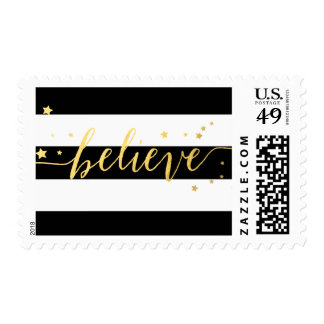 Gold Shine Believe | Holiday Postage