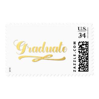 Gold Shine Graduation Postage
