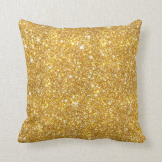 Gold Sparkle Throw Pillow : Faux Gold Glitter Pillows - Decorative & Throw Pillows Zazzle