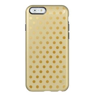 Gold Shiny Polka Dots Pattern Incipio Feather Shine iPhone 6 Case