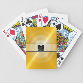 Gold Shiny Stainless Steel Metal 2 Bicycle Playing Cards