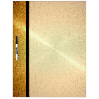 Gold Shiny Stainless Steel Metal 2 Dry-Erase Board