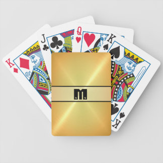 Gold Shiny Stainless Steel Metal 3 Bicycle Playing Cards